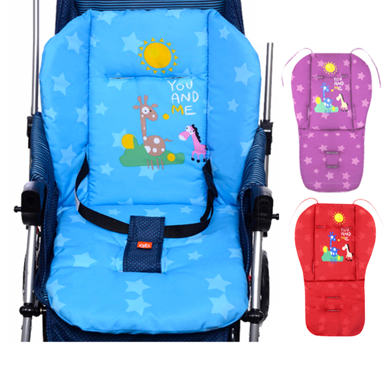 Baby Stroller Mat Red,Blue,Purple Outdoor Chair Cushions,Soft Feeding Chair  Seat