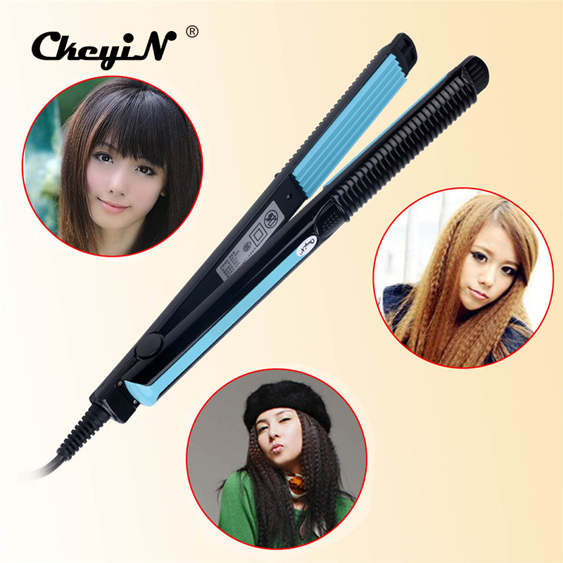 Fast Heat Hair Crimper Electric Corn Plate Hair Straightener Professional Straightening Corrugated Iron Styling Tools 49