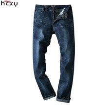 HCXY Zipper Overalls Men's Jeans Trousers Blue Big Size 48 Straight Famous Brand Jeans Men Denim Pants Stretch 2016 New Autumn