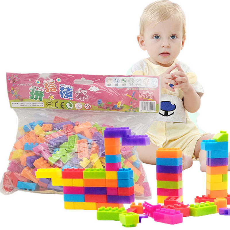 Children 39 s Hand Combination Toy Early Education Enlightenment Snowflake Green Plastic Toy Building Blocks in Blocks from Toys amp Hobbies