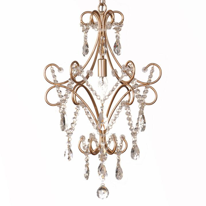 Retro creative personality crystal chandelier single living room bedroom restaurant lamp aisle crystal chandeliers, E14. mb barbell мв 2 27 grey