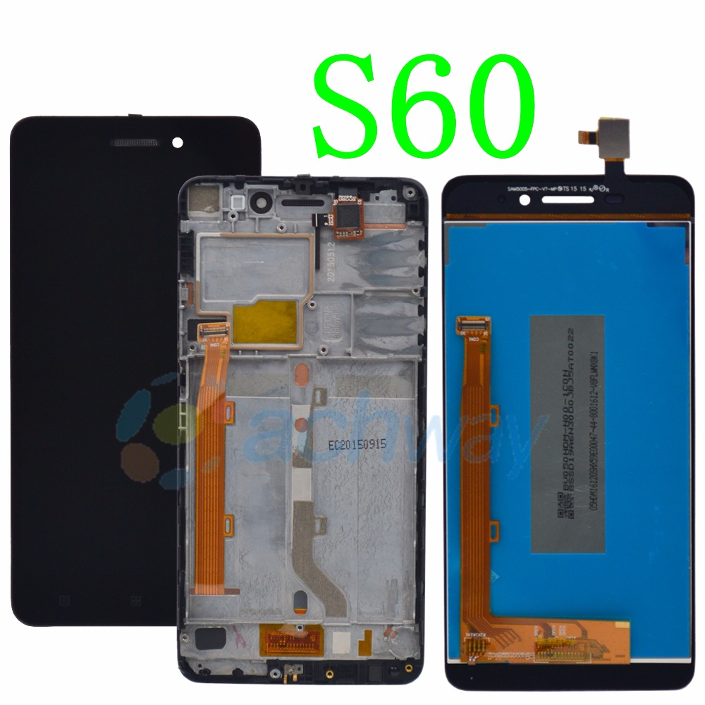 5.0 Lenovo S60 S60W LCD Display Touch Screen Digitizer Assembly With Frame Lenovo S60 Display Replacement Parts image