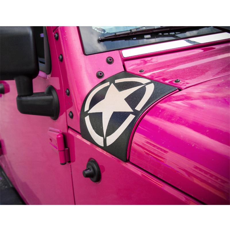 ABS Body Armor Side Protect Cover Colourful Star-Style Car Sticker fit for Jeep Wrangler JK 2007-2016 Car Styling Accessories