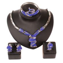 Женское Ожерелье с голубым кристаллом в африканском стиле браслет
