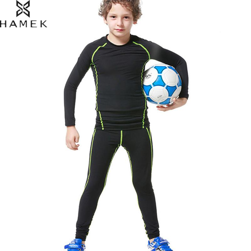 Kids Running Sets Compression Workout Tights Boys Soccer Basketball Training Suit Sports Leggings Gym Fitness Jogging Clothing Running Set Running Suitclothing Running Aliexpress
