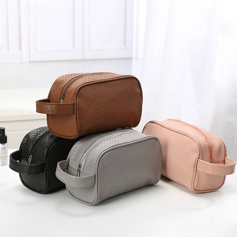 1 Pc Solid Color Men Washing Bag Unisex Cosmetic Bag For Make Up Travel Toiletry Bag  Trousse De Toilette Dropshipping