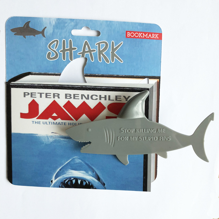 Novelty Shark  Bookmark Page Marker For Book