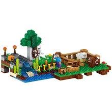 LELE Playmobil My Worlds Minecraft The Mine Creator Bricks Model Building Blocks Compatible with Legoe Toys for Children 262pcs