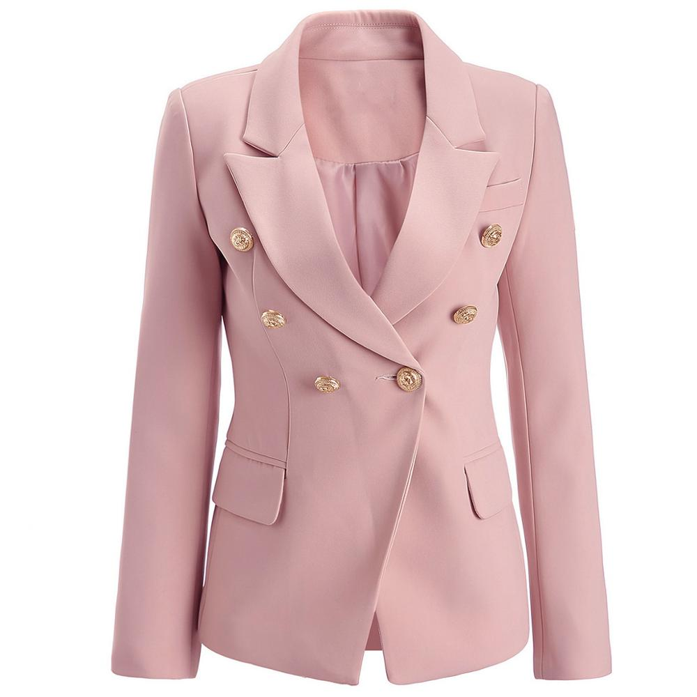 Women's Spring Autumn Blazer Coat Women High Quality Slim Suit Jacket Female New Double Breasted Blazer Jacket Large Size S-XXXL