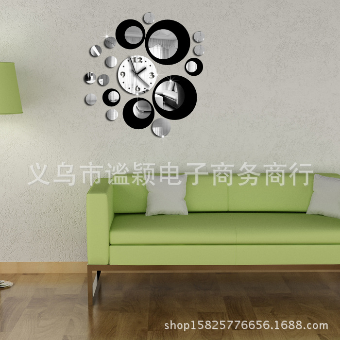 sticker wall clock Picture More Detailed Picture about 2016 3D