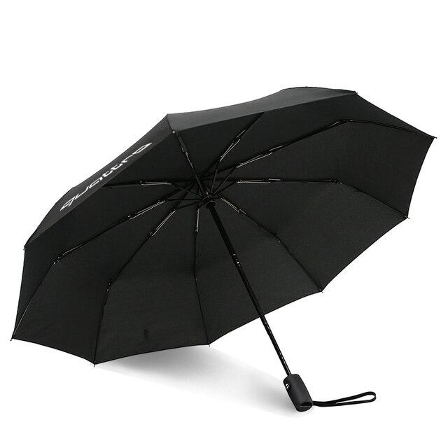 KAHANE Quattro Logo Automatische Mannen & Vrouwen Zon Regen Paraplu Voor Audi A3 A4 A5 A6 A7 A8 R8 Q3 q5 Q7 RS S3 S4 S5 S6 S7 RS3 RS4-in Waterdichte paraplusets van Auto´s & Motoren op