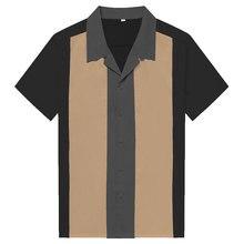 Charlie Harper เสื้อแนวตั้งลายเสื้อสำหรับ 50s Rockabilly เสื้อปุ่มลงเสื้อฝ้ายแขนสั้น Vintage ชุด