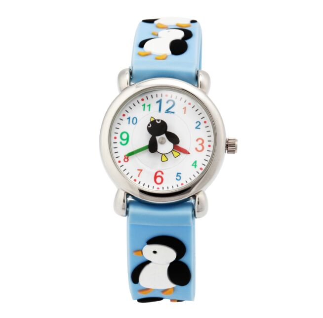 Brand WL Waterproof Fashion Watch 3D Penguin Watch Silicone Sport Wristwatches Quartz Ladies Watch 1pc Free Shipping