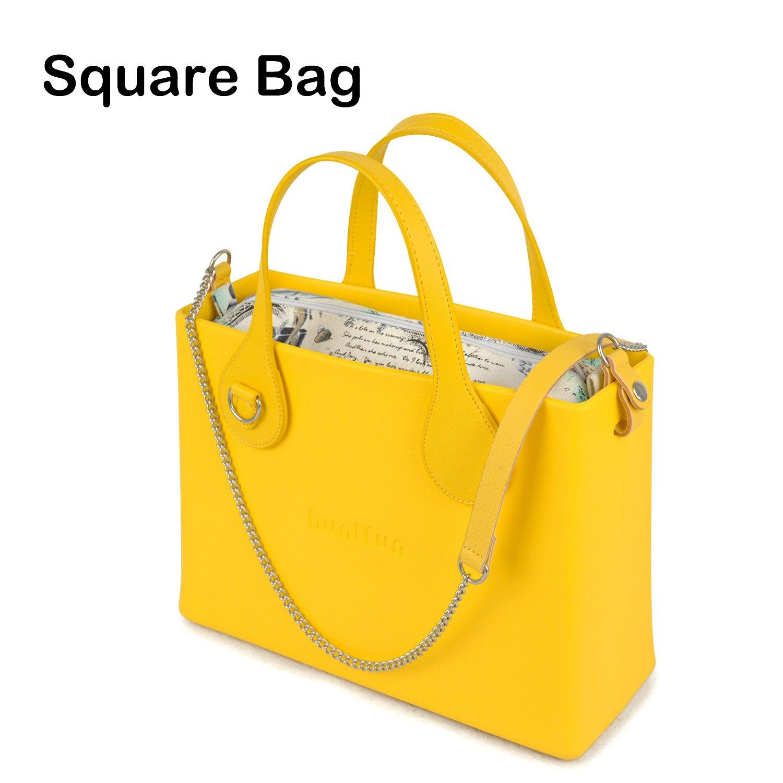 06470ade0e88 Новый логотип хантфун силиконовый Квадратный EVA сумка с кожаным колье из  ткани сумка через плечо с