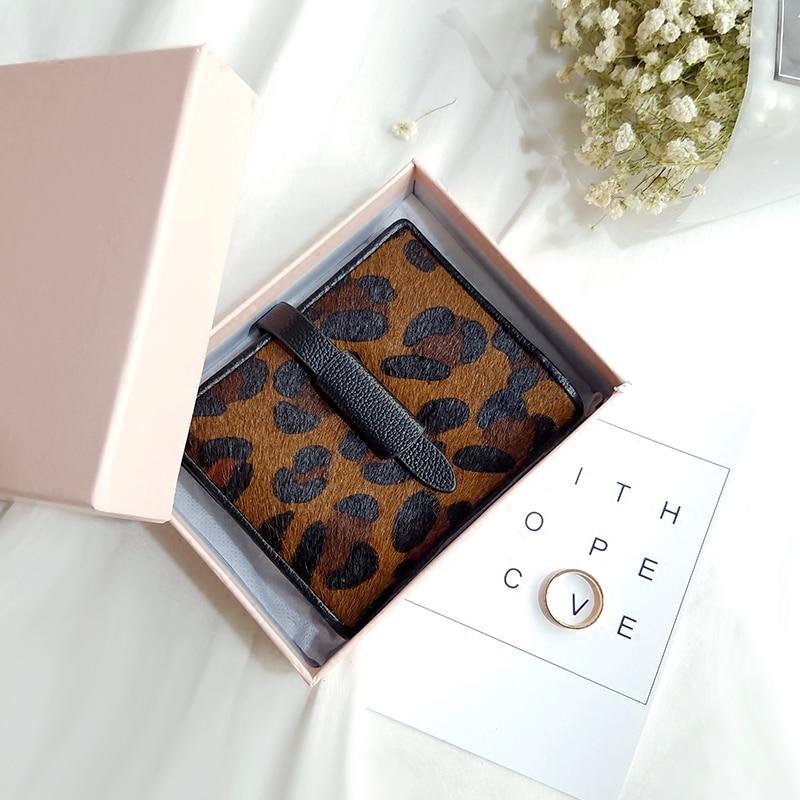 2016 Winter Women Leopard Purse famous Designer Leather Belt Wallets Cowhide Horse Wallet Real Leather Coin