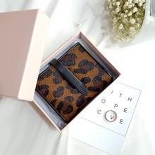 2016 Winter Frauen Leopard Handtasche berühmte Designer Leder Gürtel Brieftaschen Rinds Pferd Brieftasche Echt Leder Münzfach Schwarze Handtasche Tasche