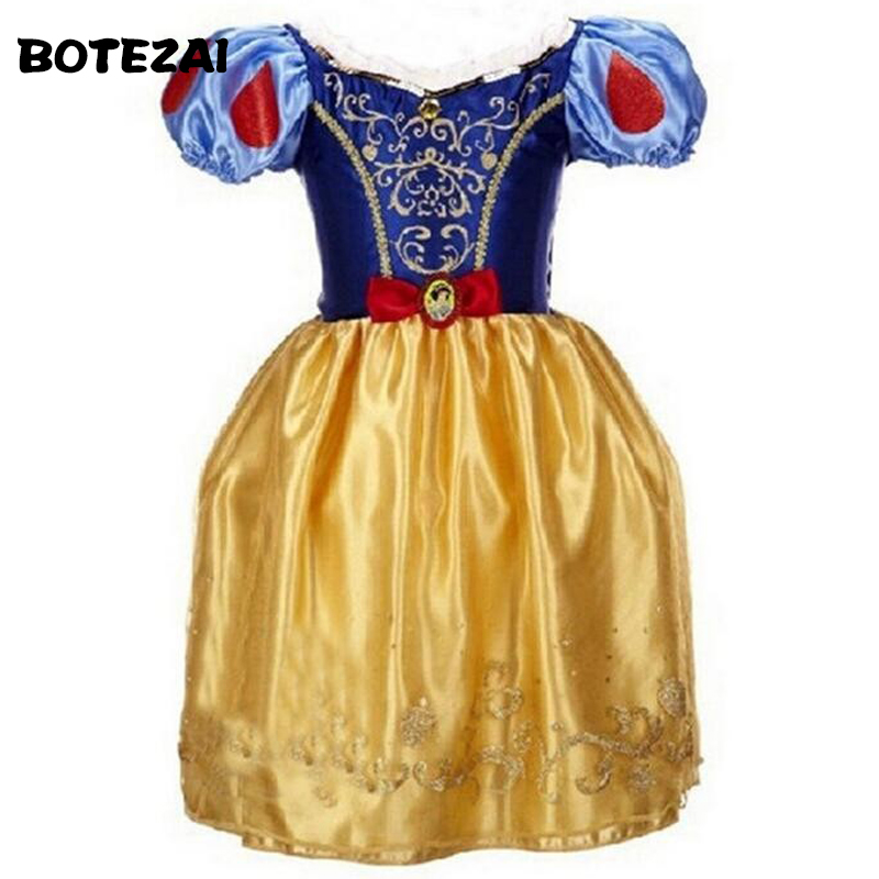 2-10 Years Princess Cinderella Girls Dress Snow White Dresses For Girls Rapunzel Aurora Children Cosplay Costume Kids Clothing