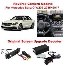 Oryginalny ekran aktualizacji systemu dla Mercedes Benz C W205 2015 ~ 2017/cofania utwór obrazu + kamera tylna/dekoder cyfrowy w Kamery pojazdowe od Samochody i motocykle na