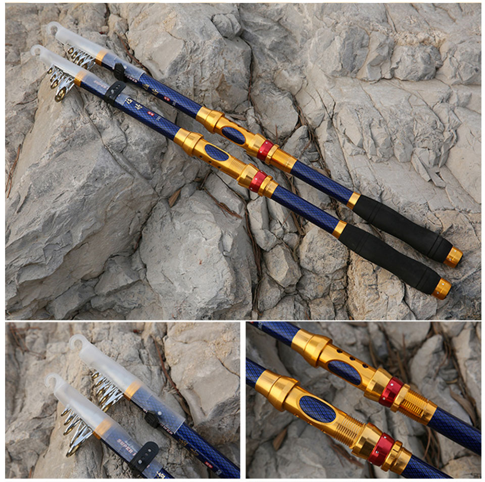 Image 5 - 2019 series carbon spinning fishing rod 2.1 3.6m hard short travel telescopic rod rock boat stick for seafishing bass carp pole-in Fishing Rods from Sports & Entertainment