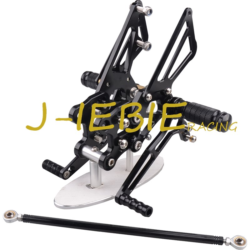 CNC Racing Rearset Adjustable Rear Sets Foot pegs Fit For Kawasaki NINJA ZX14R 2006 2007 2008 2009 2010 2011 BLACK black moto fairing kit for kawasaki ninja zx14r zx 14r zz r1400 zzr1400 2006 2007 2008 2009 2010 2011 fairings custom made c549