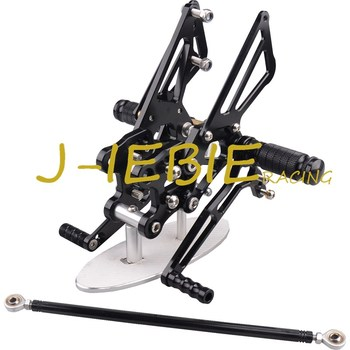CNC Racing Rearset Adjustable Rear Sets Foot pegs Fit For Kawasaki NINJA ZX14R 2006 2007 2008 2009 2010 2011 BLACK