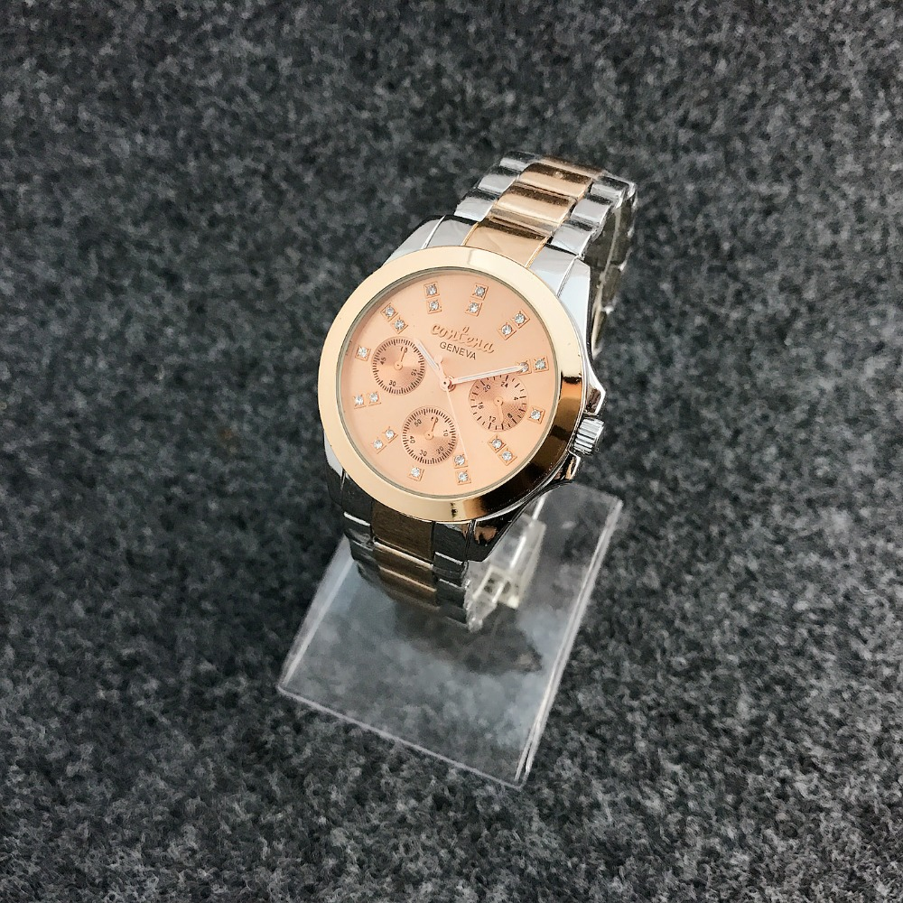 Contena mode décontracté hommes montres à quartz en acier inoxydable bracelet montres hommes horloges