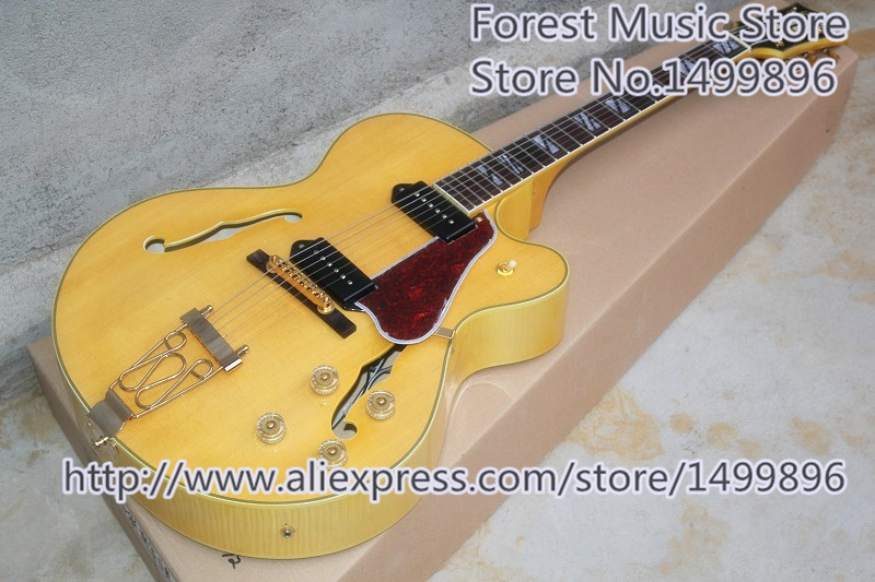 Hot Selling L5 Electric Guitars Hollow Maple Body Chinese Guitarra As Picture Left Handed Custom Available стоимость