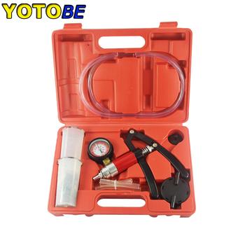 Ręczna pompa próżniowa i zestaw do odpowietrzania hamulców tester próżniowy zestaw narzedzia samochodowe tanie i dobre opinie YOTOBE CN (pochodzenie) Wakuometr