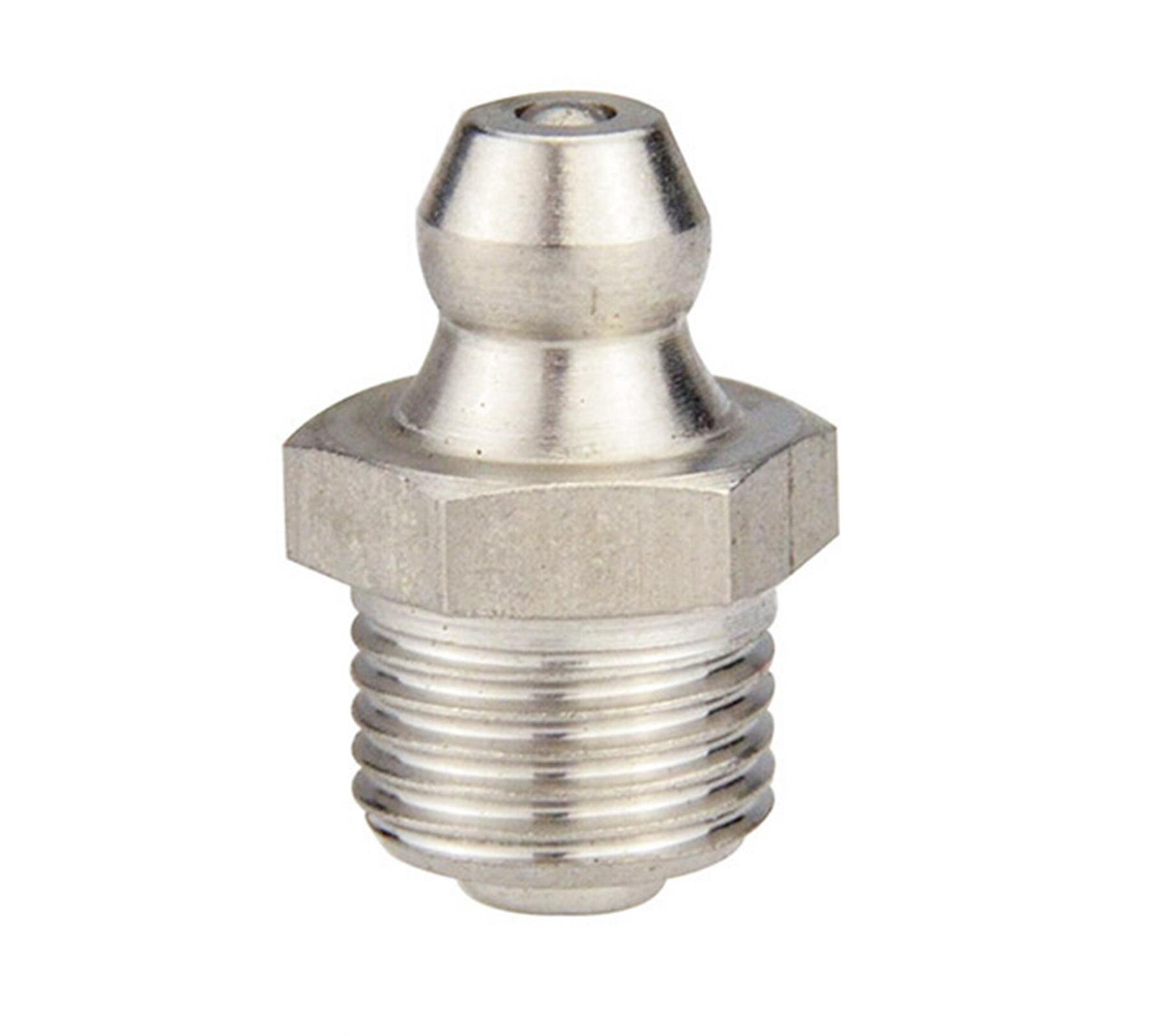 M6 X 0.75mm Metric Male Stainless Steel Grease Zerk Nipple Fitting For Grease Gun