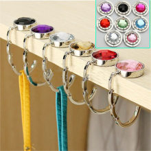 Portable Folding Handbag Hook Holder Table Desk Hanging Clip Multi-color Bag Hanging Hook Purse Bag Folding Umbrella Clip Hanger(China)