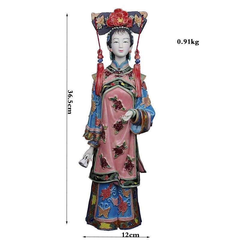 Antique belle ange à collectionner Figurines culture chinoise femme porcelaine mode poupées Sculptures Statue Vintage