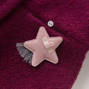 Image 5 - DB5513 dave bella outono infantil roupa dos miúdos da criança roupas de bebê meninas moda sólidos lolvely crianças de alta qualidade casaco de lã