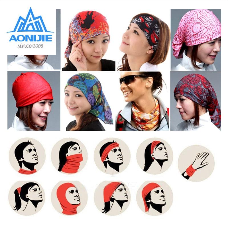 AONIJIE Multifunctional Sports Headwear Sweatband Headband Bicycle Cycling Bandana Scarf Face Cover Mask For Yoga Fitness