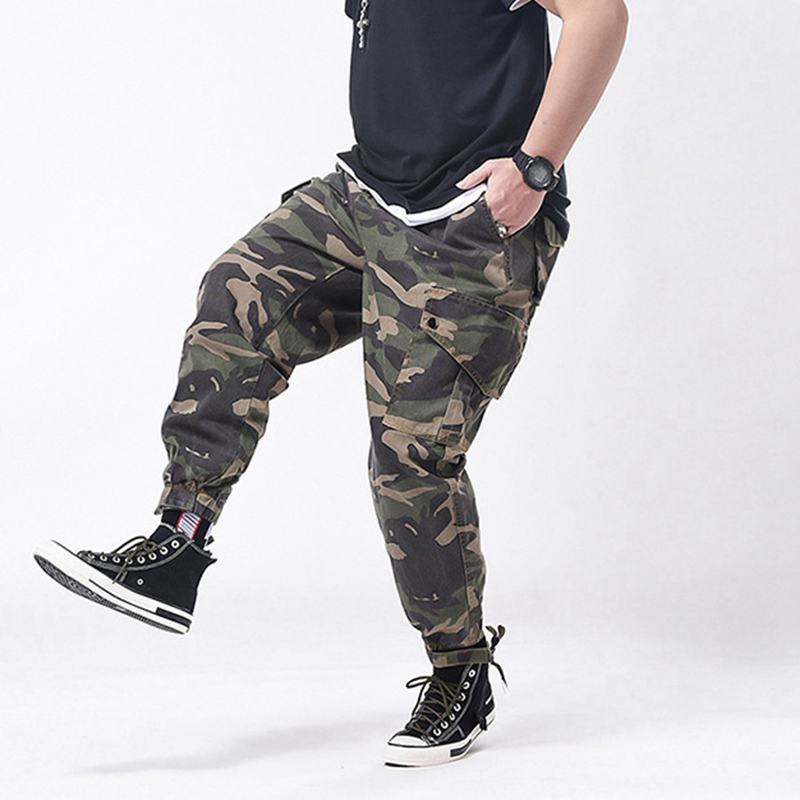 Image 3 - spring men cargo Camouflage pants pockets high streetwear plus 