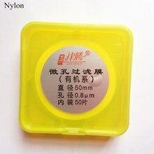 Microporous Filter Membranes Nylon Diameter 50mm 0.45um/0.22um/0.8um Micro Nylon Membrane Filter JIN TENG BRAND 50pcs/pk