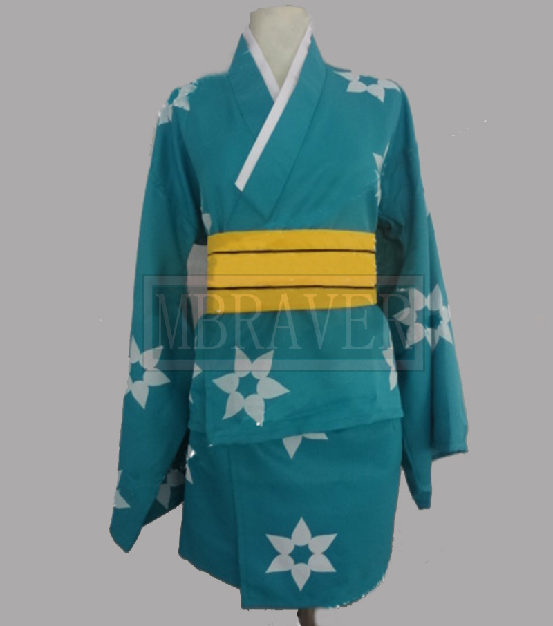 New cosplay Bakemonogatari Araragi Tsukihi Cosplay Cos Kimono Ancient Costume Cartoon