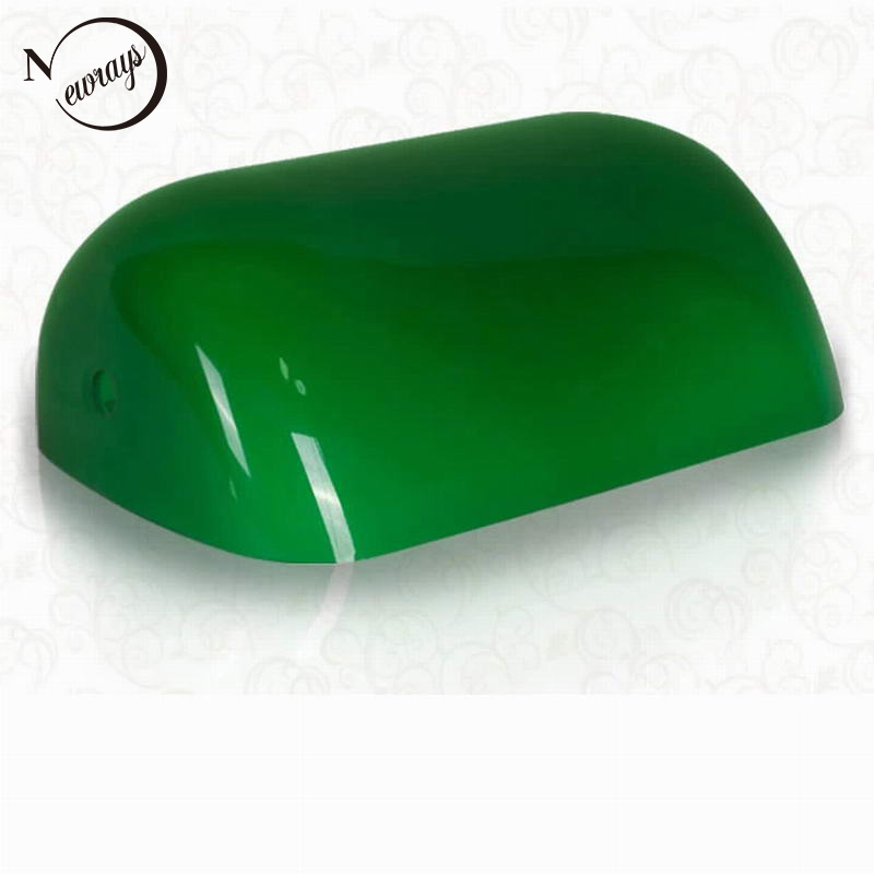 Yeşil/mavi/sarı/beyaz renkli cam BANKER lamba kapağı/bankacılar lamba cam gölge abajur