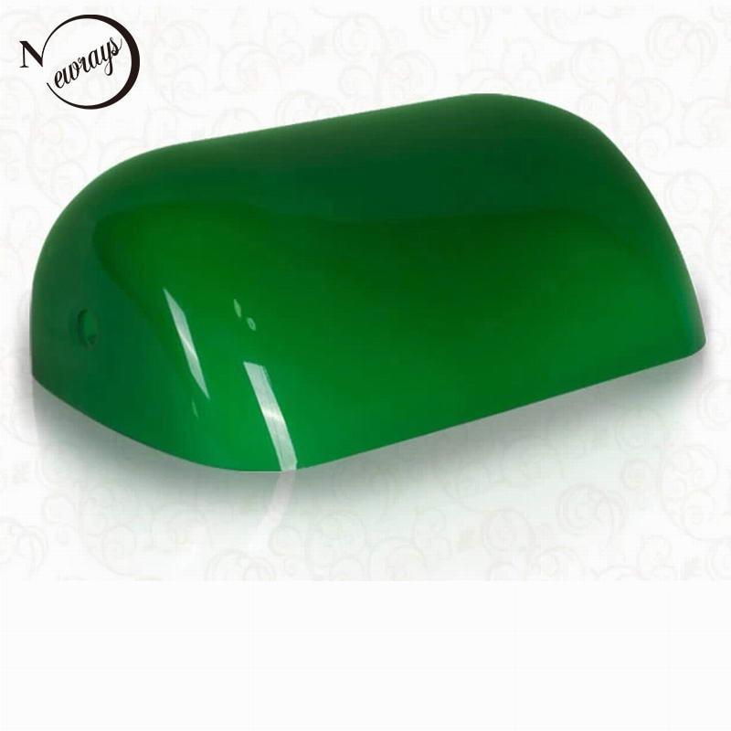 Zielony/niebieski/bursztynowy/biały szkło kolorowe pokrywa lampy bankiera/lampa bankierów szklany klosz abażur