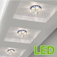 Luzes do corredor luzes do corredor de entrada corredor luzes LED 5 W lâmpada do teto moderno minimalista sala de estar lâmpada de cristal da lâmpada