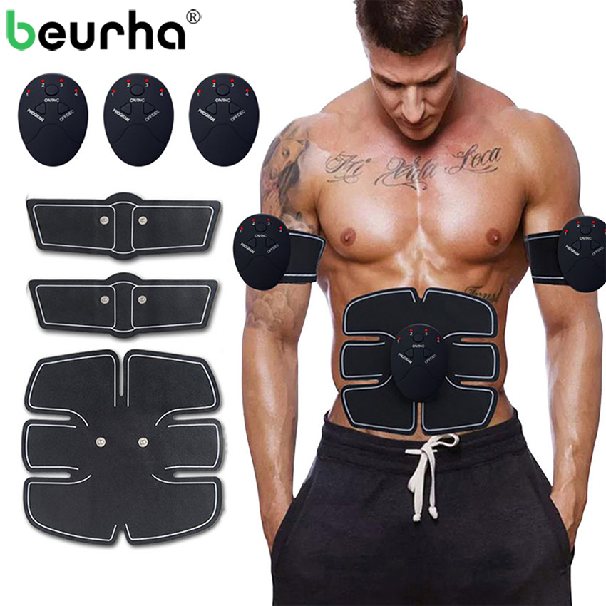 Powerful Wireless Electronic Muscle Stimulator Abdominal Muscle EMS Trainer Weight Loss Strengthen Slimming Massage With Big Box herbal muscle