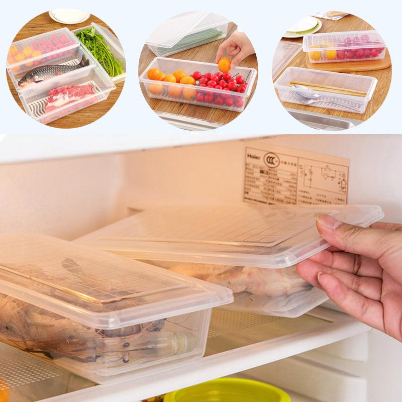 Hot Sale Practical Refrigerator Food Storage Boxes Sealed Fruit Seafood  Crisper Kitchen Tools Tableware New(