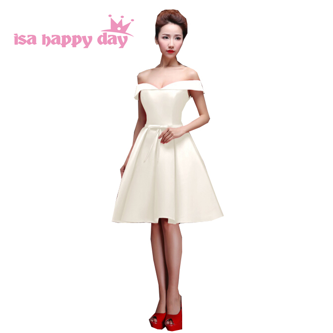 knee length images ball short gown ivory bridesmade   bridesmaid     dress   pageant   dresses   new fashion for the   bridesmaids   H2648