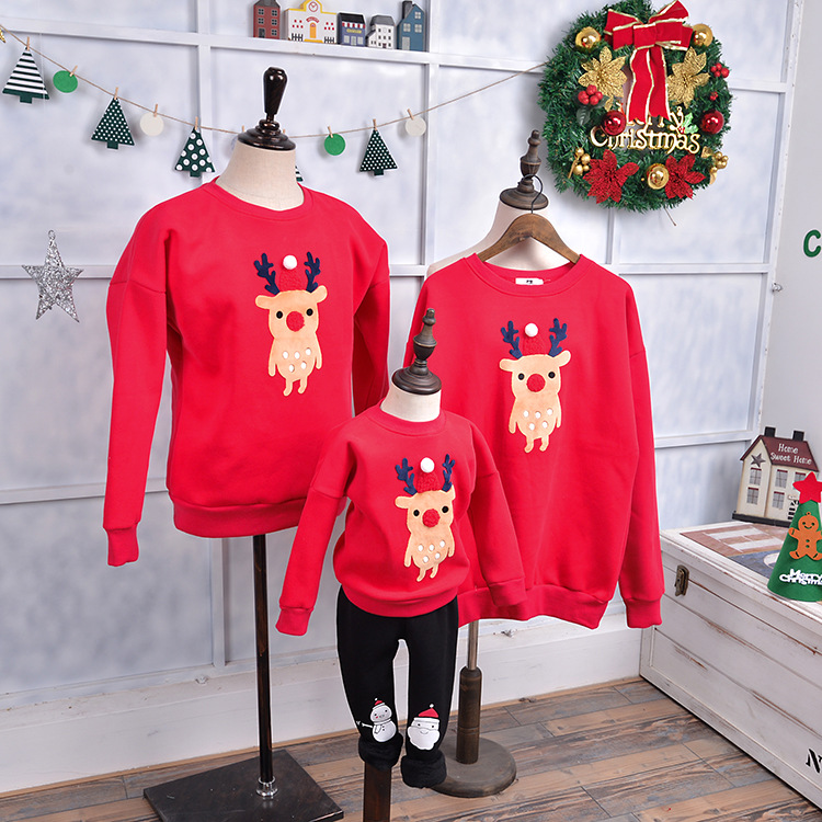 Winter family look matching mom Christmas sweater ...