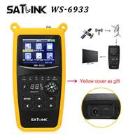 Satlink WS 6933 DVB S2 FTA Digital Satellite Finder Meter LCD Flashlight Signal Finder Meter Detector