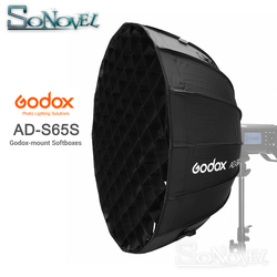 Godox Portable 65cm AD-S65S built-in silver Deep Parabolic Softbox with honeycomb grid Godox Mount softbox for AD400PRO flash