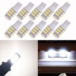 10 шт. T10 1206 42 SMD LED Автомобильные светодиодные лампы 42smd DC12V автомобильный горизонтальный Клин габаритные огни отложным воротником сигнальная...