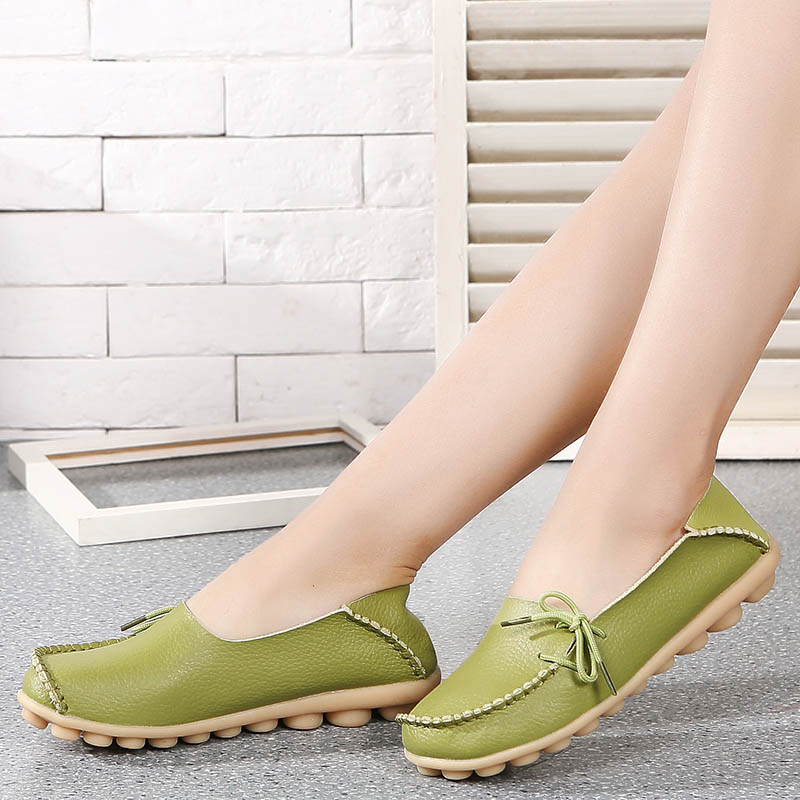 Flat Shoes Women 2019 Spring Platform Ladies Shoe Woman Flat Mocassin Femme Zapatos de Mujer Chaussures Womens Nurse Moccasins