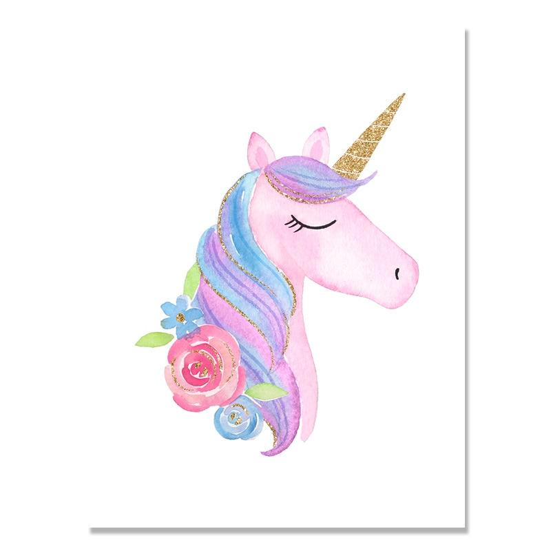 Rainbow Baby Girl Room Decor Unicorn Posters Wall Art ...