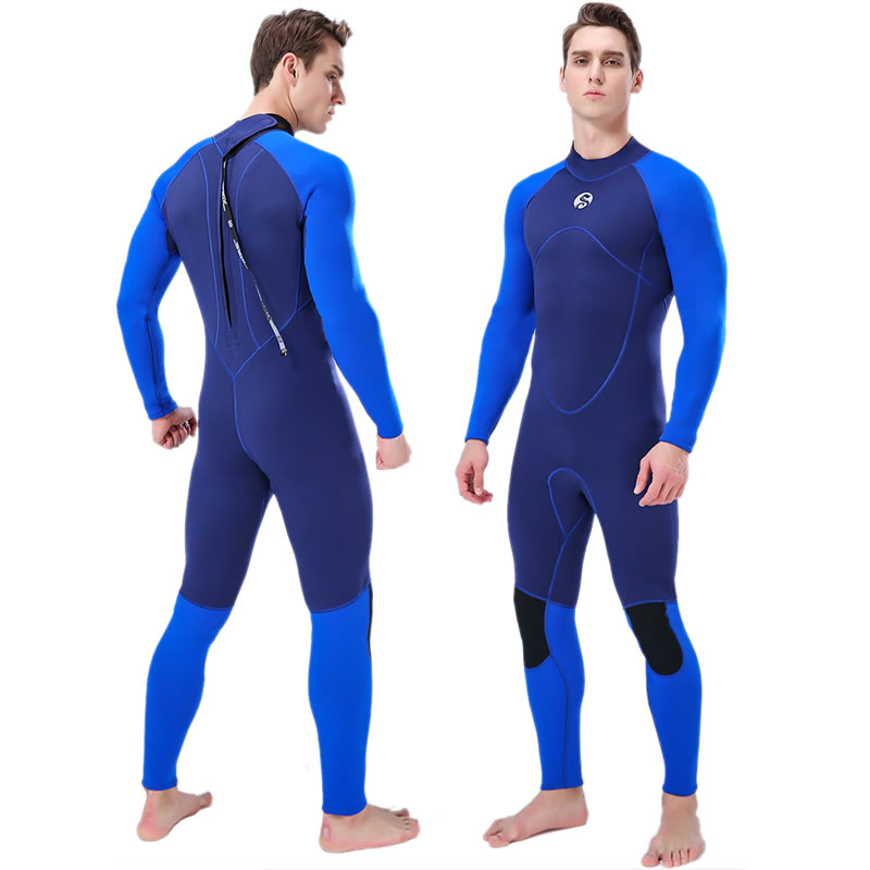 SLINX 3mm Neoprene Wetsuits Men Full Body One Piece Scuba Diving Surfing Snorkeling Spearfishing Swimsuit Sunscreen