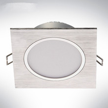 LED Downlights 5W 10W Dimmable AC85-265V Square Brush silver LED Ceiling Lamp Down Light for Kitchen/Home/Office Indoor Lighting